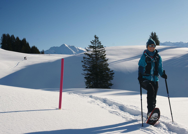 Bärghuis Schoenbueel Schneeschuh Wanderung